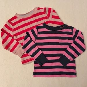 Two girls Mini Boden pocket front tees
